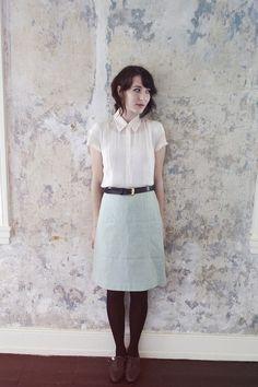 Kathryn Bagley - Vintage Blouse, Vintage Skirt, Vintage Oxfords - The poe house