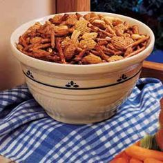 Favorite Snack Mix Recipe - I had this at a shower, and it was gone before I could go back for seconds!