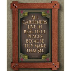 Arts and Crafts Framed Print. Garden subject. Great for Arts and Crafts, Mission style and Craftsman homes.