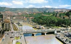Old picture of Bilbao (Basque Country).