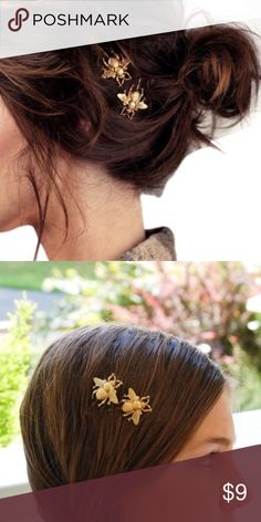 Bee Hair Pins . Comes as a set of 2 Bumble Bee Hair Pins. PRICE IS FIRM Boutique Accessories Hair Accessories