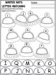 Free winter uppercase and lowercase letters cut and paste activity.