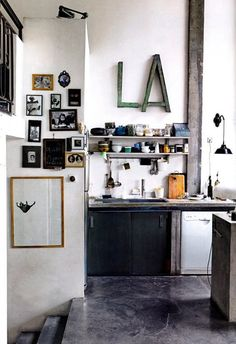 Trending: Big Letter Art in the Kitchen