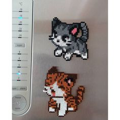 Kitty magnets hama beads by  litzsas