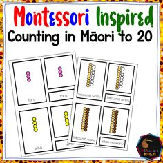 This Maori language activity is great for students to help with counting, using the montessori coloured beads and 3 part cards students learn how to read the words for numbers Suitable for Immersion/kohanga or montessori ormainstream classes Number Activities, Language Activities, Learn To Count, Learn To Read, Montessori Color, Classroom Environment, Student Learning, Teaching Resources, Alphabet