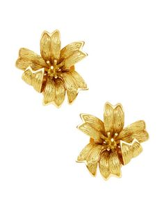 Tiffany & Co. Ca. 1994 Gold Flower Earrings by Tiffany & Co. at Gilt