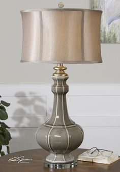 Cool Uttermost Lamps Foe Home Accessories Ideas: Pretty Uttermost Lamps With Brown Shades For Home Table Lamp Ideas