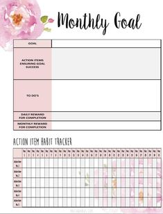 Business Plan Template Discover Goal Setting Planner Insert with Habit Tracker! Resize to fit any planner Goals Planner, Fitness Planner, Weekly Planner, Life Planner, Happy Planner, Planner Diy, College Planner, College Tips, Daily Planner Printable