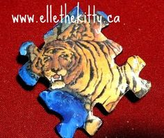 Handmade pin, sold already. Made from a recycled children's book and handpainted. Handmade recycled media jewelry  Items are one of a kind and can be ordered as pins, magnets, pendants, zipper pulls, shoe charms and other things. Support indie art  www.ellethekitty.ca