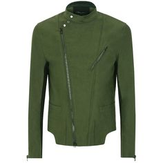 Pre-owned 3.1 Phillip Lim Moto Cross Green Jacket ($210) ❤ liked on Polyvore featuring outerwear, jackets, green, 3.1 phillip lim jacket, pocket jacket, cross jackets, cotton jacket and 3.1 phillip lim