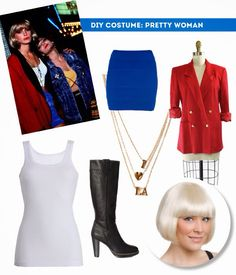 DIY Halloween Costume: Pretty Woman | Things you might be able to find at your local Thrift store.