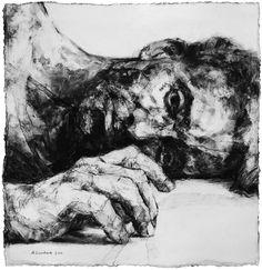 Alison Lambert ~ Eutychus, 2011 (charcoal, pastel)