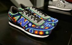 Ricardo Seco , the Mexican designer, for his S/S & Fall 2015 collections re-vamped the New Balance shoes using the Native Mexican tradit. Mexican Designs, New Balance Shoes, Sneakers, Collection, Makeup, Hair, Fashion, Tennis, Make Up