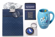 """Amazon.com: Graduation Gift Keychain, """"Oh the Places You'll Go"""" Ceramic Mug, Blessings & FREE Gift Bag: Home & Kitchen"""