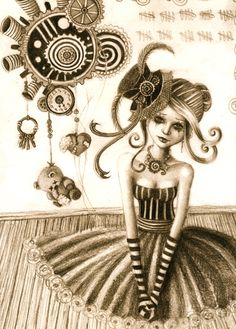 Steampunk drawing...I'm obsessed with steampunk at the moment...