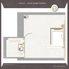 Classic quick page freebie from Ange Designs #digiscrap #scrapbooking #digifree #scrap #freebie #scrapbook
