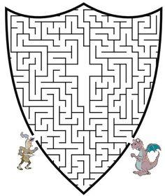 Knight Maze: Get the knight through the maze to slay the dragon
