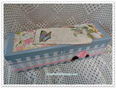 Pretty Blue Wood Keepsake Box Hand Painted by CelestinaMarieDesign