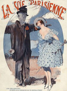 Illustration by George Leonnec For La Vie Parisienne June 1920