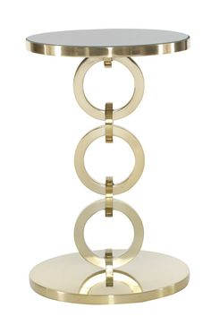 Bernhardt Furniture | Jet Set Collection | 356-123 Round Chairside Table | MacQueen Home