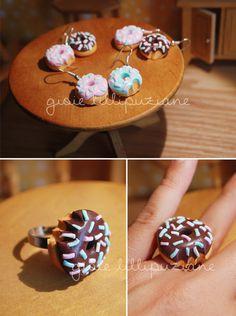 handmade donuts jewels    http://sainsgioie.blogspot.it  http://www.facebook.com/GioieLillipuziane