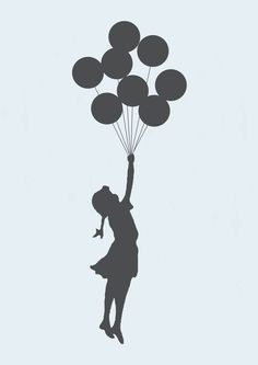 Poster Flying Girl banksy | Dependure | Elo7
