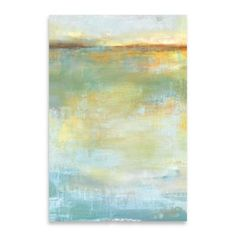 Abstract Wash Center 24-Inch x 36-Inch Embellished Canvas Wall Art - BedBathandBeyond.com