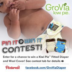 Win a GroVia Kiwi Pie Fitted Diaper and Wool Cover!  More details can be found here:  http://www.facebook.com/GroViaDiaper/app_143103275748075