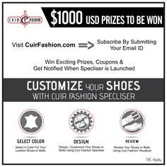 Help me to win one of over $1,000 in prizes from CuirFashion Shoes Specliser by entering this giveaway, and you could win too!