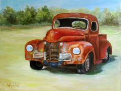 Many Miles Old Rusty Truck Painting 11x14 by ChatterBoxArt on Etsy