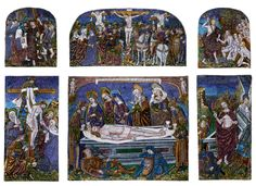 Double-Tiered Triptych: Scenes from the Passion of Christ