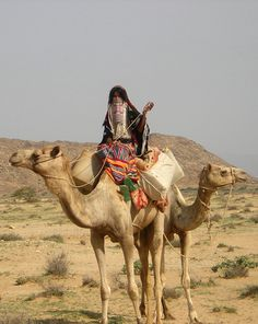 Africa | Rashaida woman out and about on a camel | ©Donnie Harris.