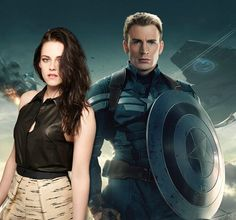 """In a recent interview, Kristen Stewart (""""Twilight,"""" """"Snow White and the Huntsman"""") expressed interest in taking a crack at the superhero genre, saying """"I'm sure I could get on board with Captain America."""" Would you like to see Stewart play a role in the Marvel Cinematic Universe? #KristenStewart #ChrisEvans #CaptainAmerica #Marvel"""