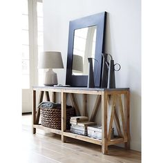 Bluestone Console Table in Side, Coffee Tables | Crate and Barrel