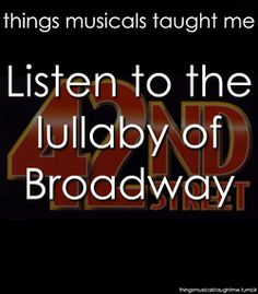 Musical comedy! the greatest words in the english language!