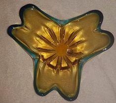 Glass Dishes, Venetian, Glass Art, Amber, Pottery, Italy, Handmade, Blue, Ceramica