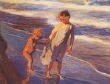 Children On The Beach Prints by Joaquin Sorolla