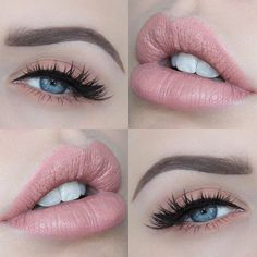 Light Coral Lips and Eyes