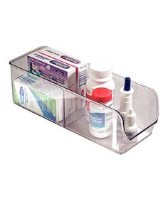 Love this Clear Two-Section Bin by InterDesign on #zulily! #zulilyfinds