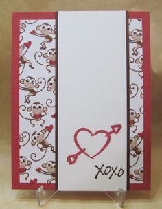 Savvy Handmade Cards: Heart Monkey Valentine's Card