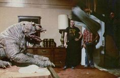 Filming the terror dog behind the scenes on #Ghostbusters (1984).