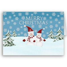 Snowman: Merry #Christmas #Greeting #Card by HolidayFun