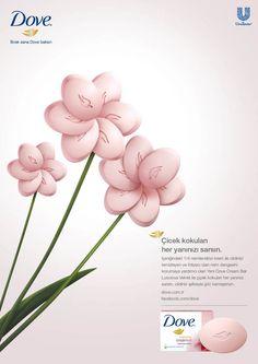 Dove Velvet by Buse Şay, via Behance Shampoo Advertising, Soap Advertisement, Visual Advertising, Creative Advertising, Advertising Campaign, Advertising Design, Kids Graphic Design, Graphic Design Trends, Ad Design