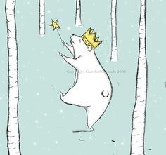 Winter Bear by GumballGrenade on Etsy