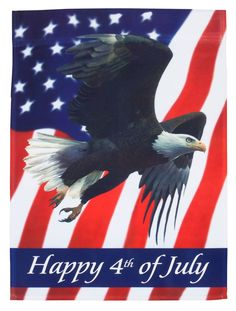 Miles Kimball Happy 4th Patriotic Eagle Garden Flag
