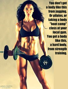 FINALLY someone says it... pick up something heavy people...