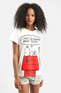 Topshop Snoopy® Pajama Set available at #Nordstrom