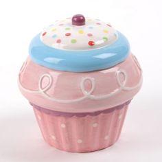 51 New Ideas Vintage Pink Kitchen Cookie Jars Purple Kitchen Decor, Cupcake Kitchen Decor, Western Kitchen Decor, Bakery Kitchen, Cupcake Cookie Jar, Baking Cupcakes, Cookie Jars, Cookie Containers, Coca Cola Kitchen