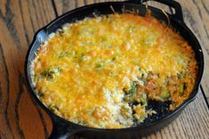 Cheesy Broccoli and Brown Rice Casserole || HeathersDish.com