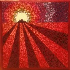 Pilgrimage  Acrylics on mdf board  10 cm x 10 cm